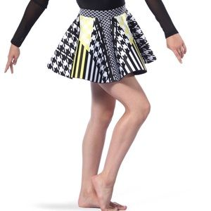 Other - Houndstooth Neoprene Skater Skirt - Costume